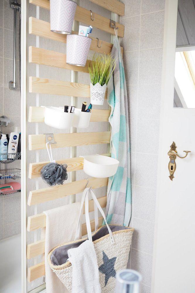 DIY Wandaufbewahrung im Badezimmer – alles sofort griffbereit