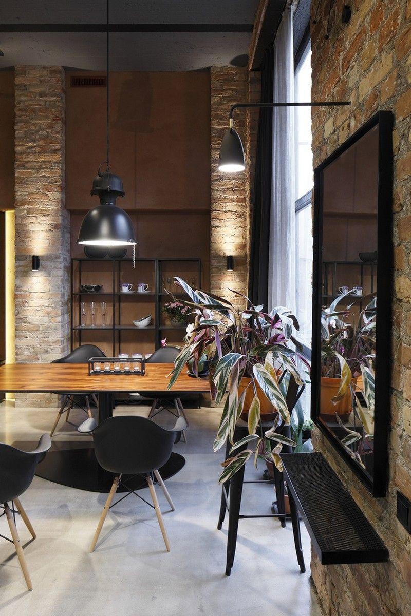 Cool Wohnzimmer Industrial Style Dekoration Von Apartment With Scandinavian Charm / Open Ad