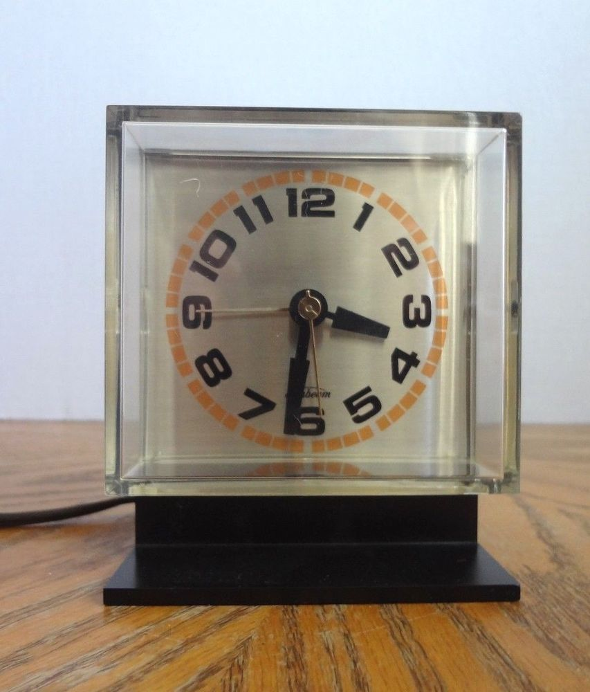 Sunbeam Space Age Alarm Clock In Working Order Clock Alarm Clock Space Age