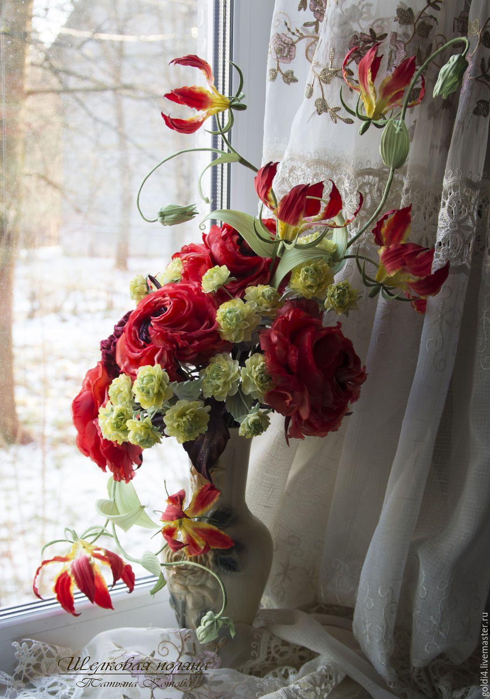 Silk Flowers Cloth Flowers Interior Bouquet Silk Flowers My