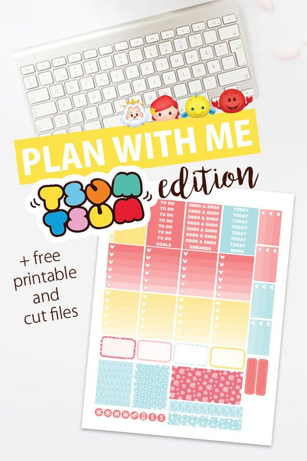 Plan With Me: Tsum Tsum Edition +  free printable for your Erin Condren planner!