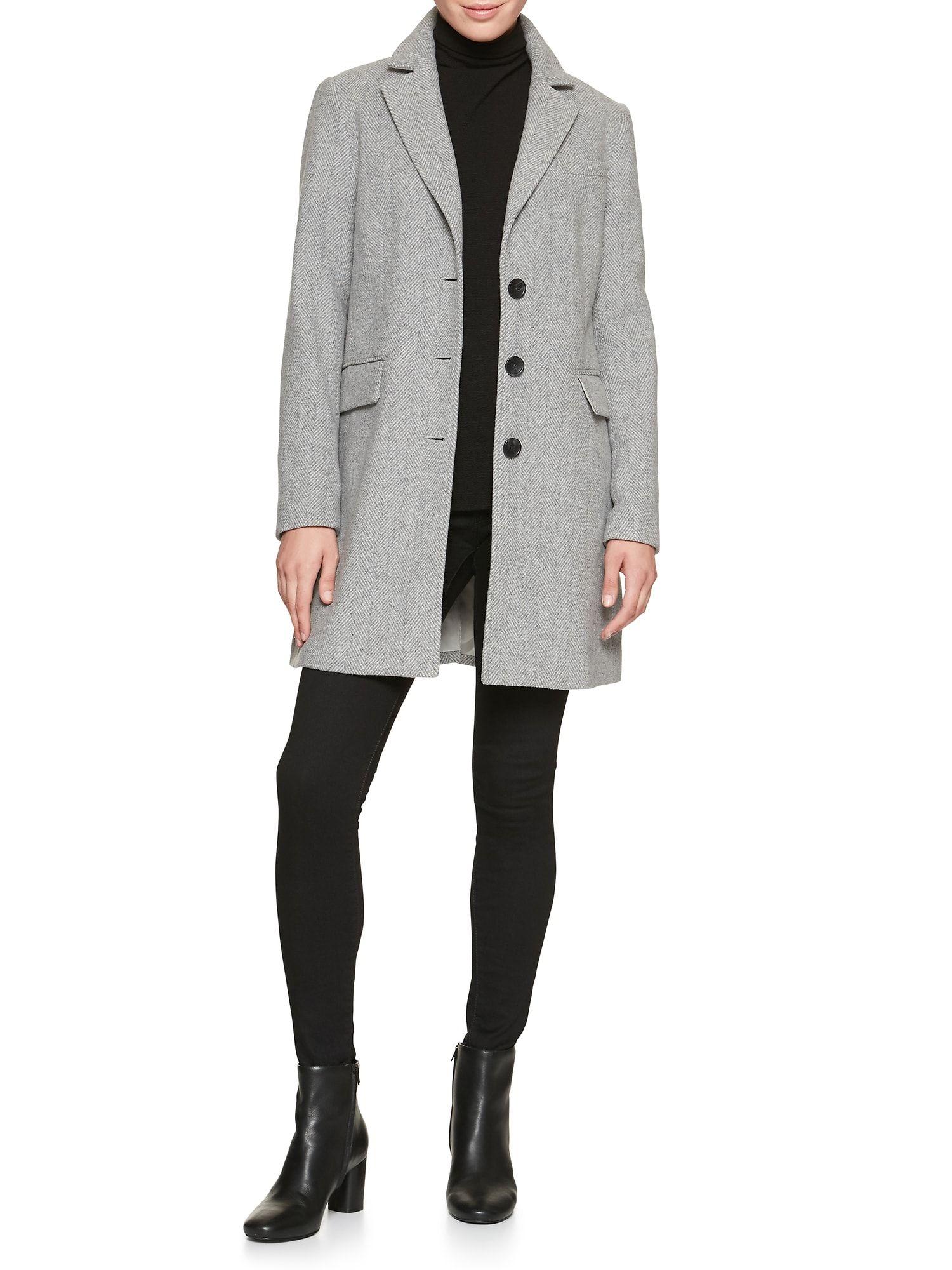 Petite Herringbone Top Coat Banana Republic Factory Petite Jacket Womens Petite Coats Outerwear [ 2000 x 1500 Pixel ]
