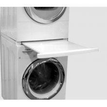 Pull Out Drawer Between Stacking Washer And Dryer Laundry