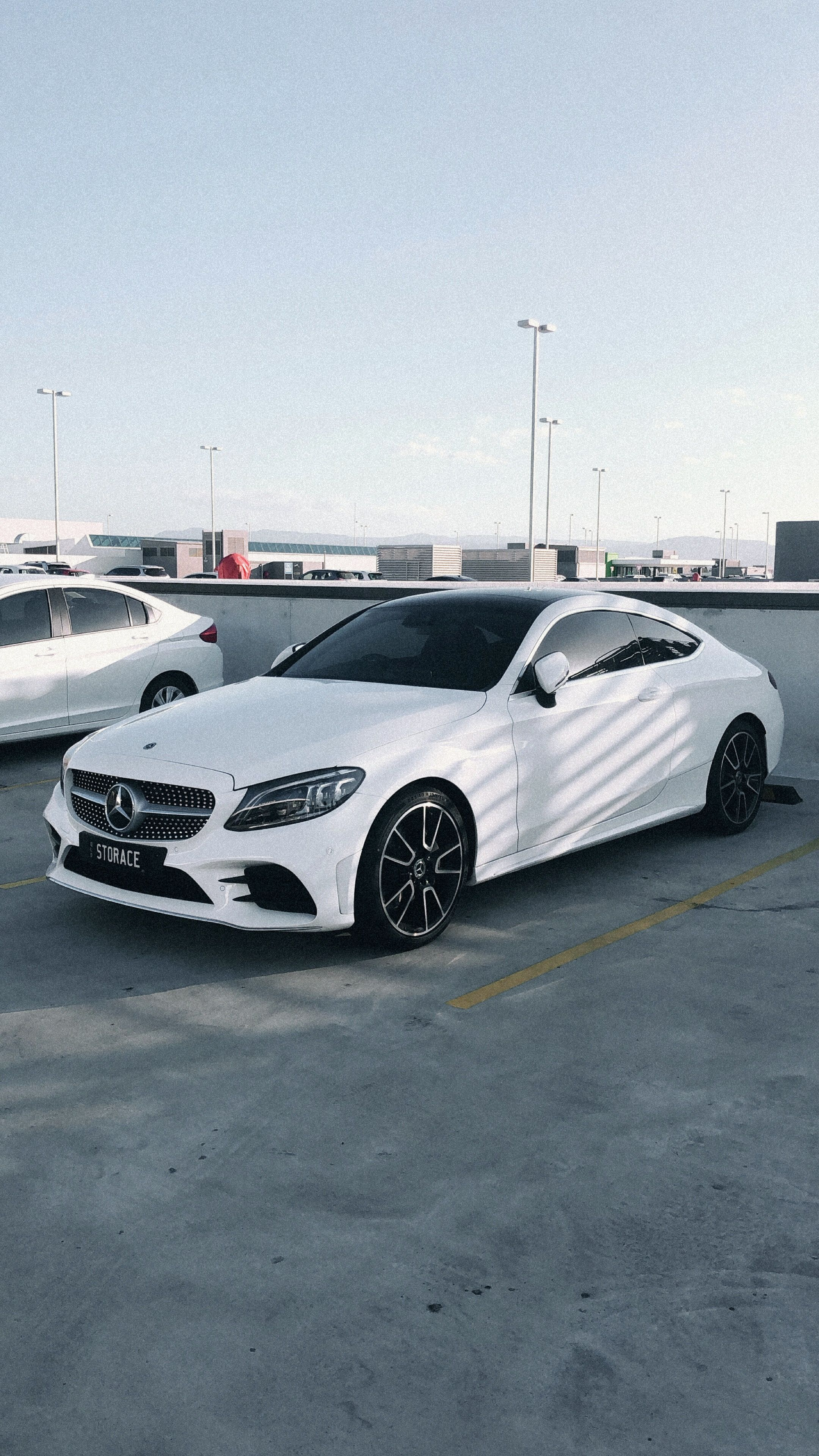 White Mercedes Benz C Class Coupe C63 With Images Mercedes