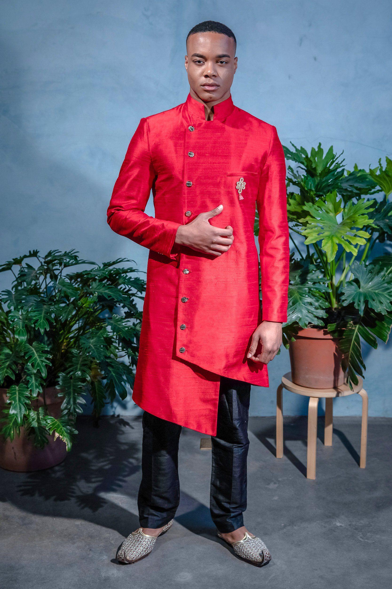 BRAR Asymmetrical Sherwani Jacket Jackets, Sherwani
