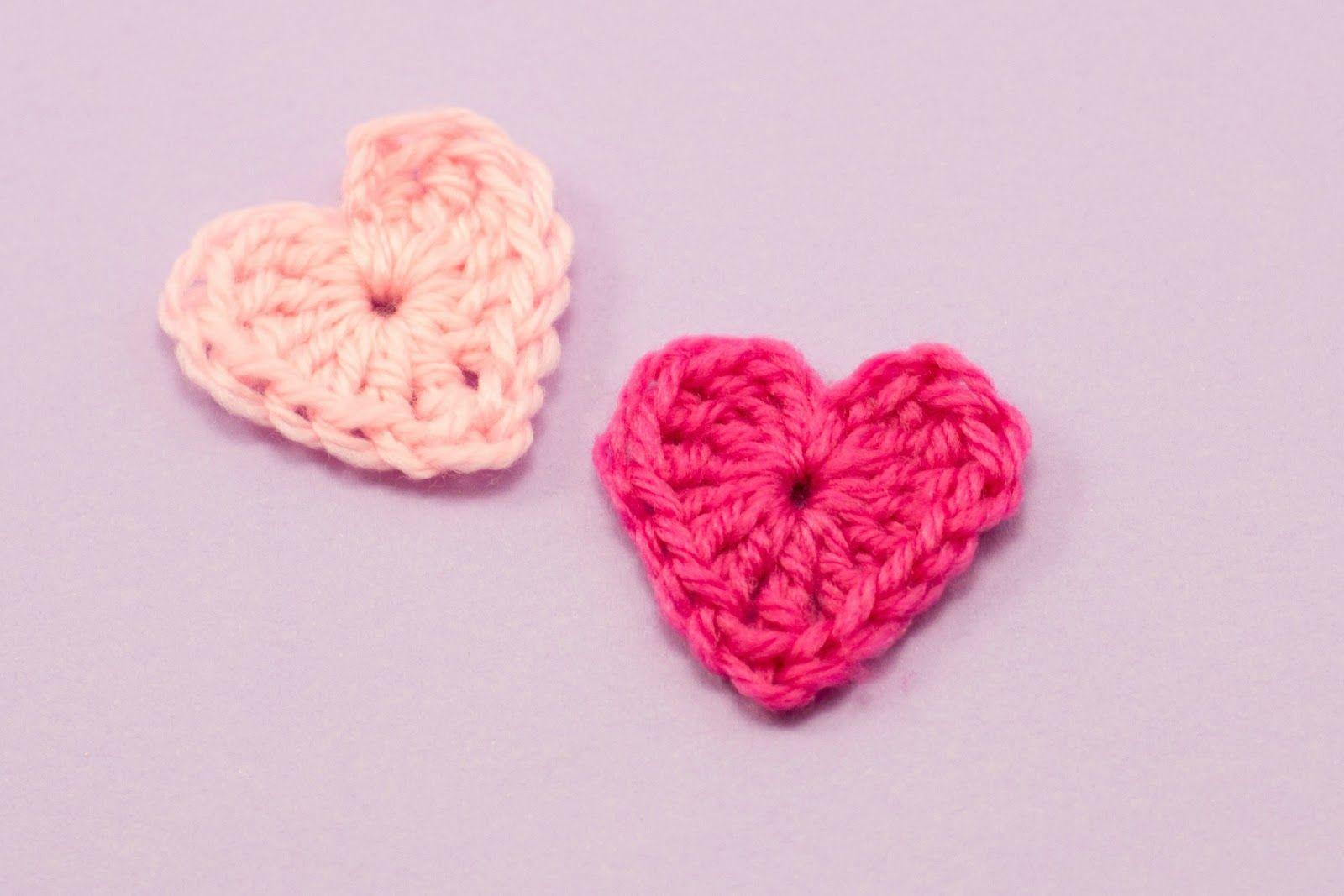 Easy Heart Crochet Pattern | Crochet | Pinterest | Diy häkeln ...