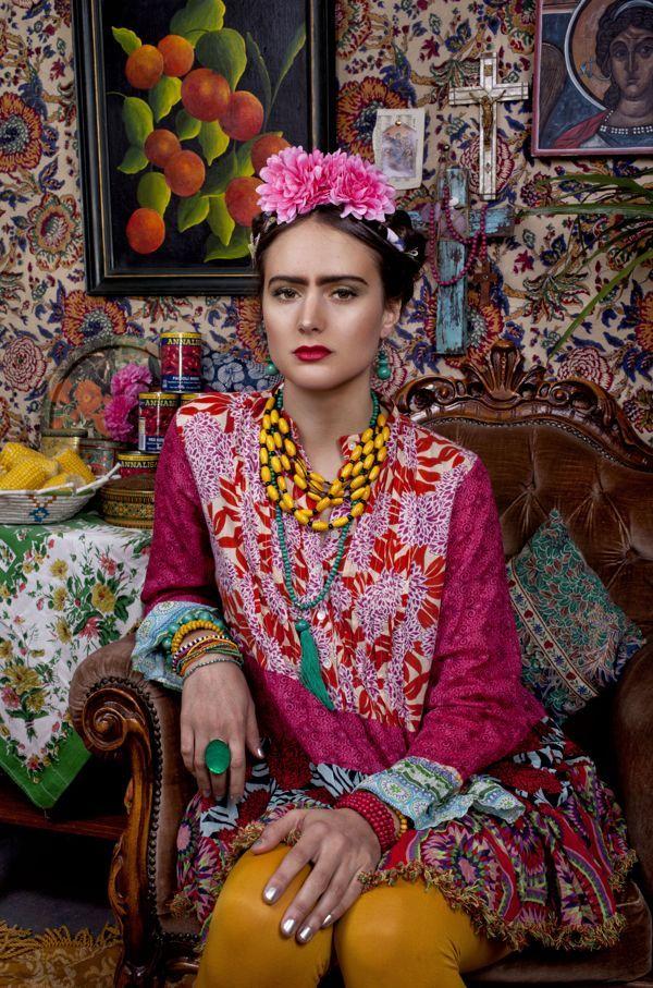Frida kahlo on behance photography styling estella mason model lasca dry colour culture - Deguisement frida kahlo ...