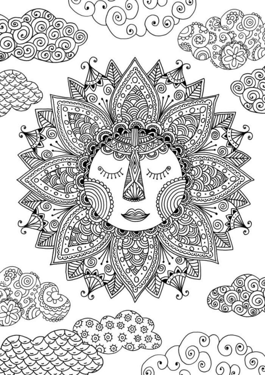 Sun Coloring Page By Felicity French Coloring Pages For Adults