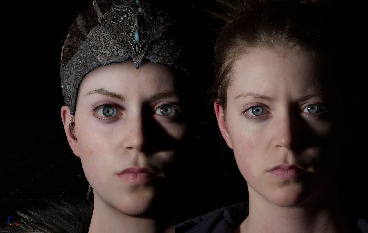 The facial scan technology used in Hellblade is freaking awesome!!