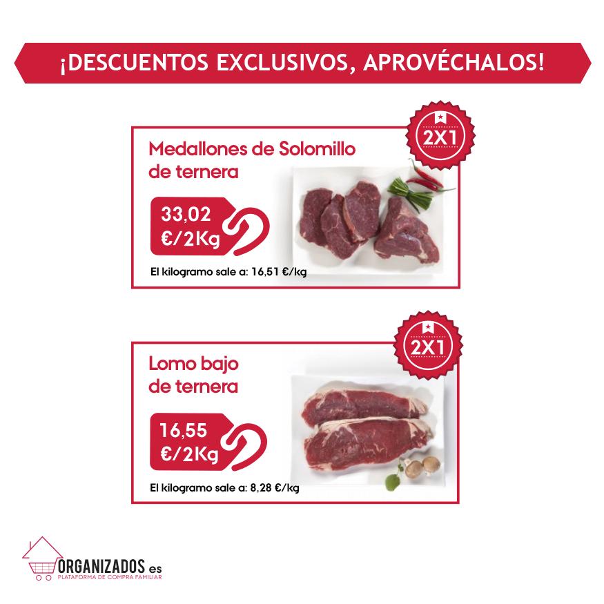 ¡Familias! Esta semana tenemos ¡ofertas especiales 2x1! Aprovechad y haced vuestros pedidos. Selección de carnes de gran calidad ¿os lo vais a perder? #organizados #ofertas #carnes