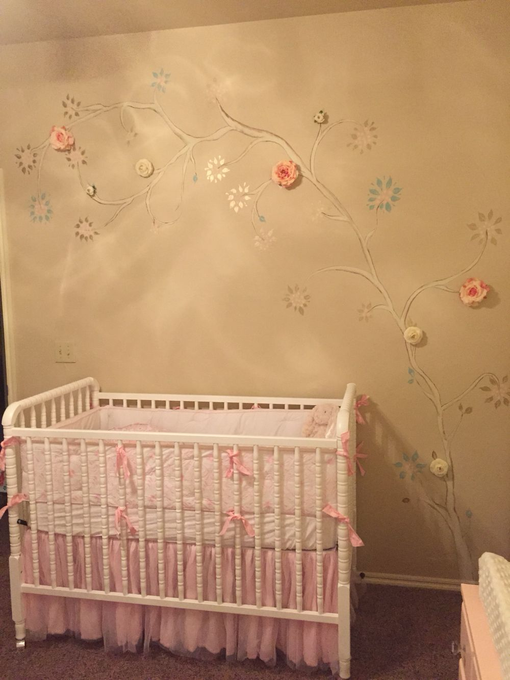 Finished tree mural for our sweet girl!