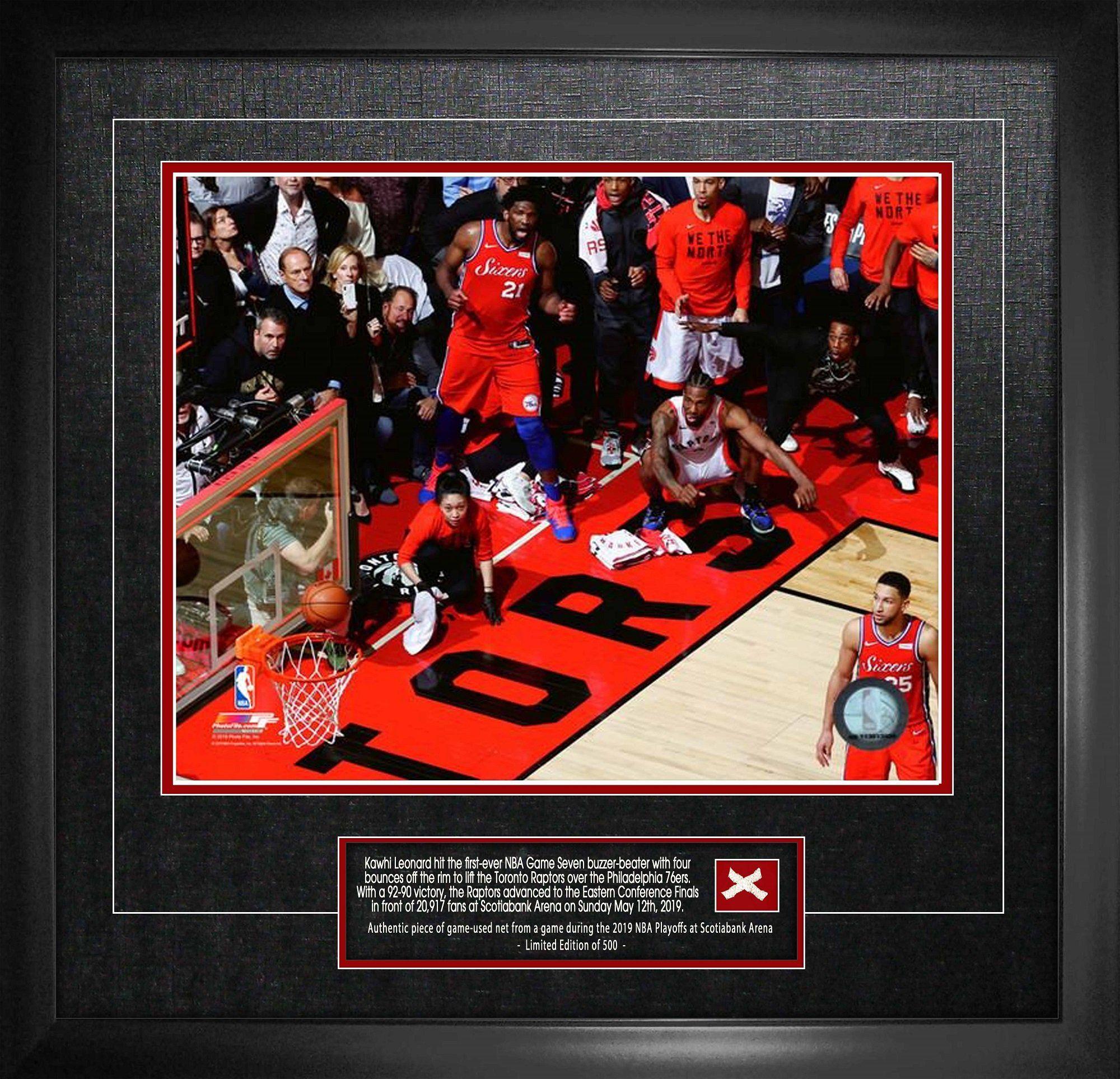 Toronto Raptors Kawhi Leonard Game 7 Buzzer Beater Shot Unsigned Picture 16x20
