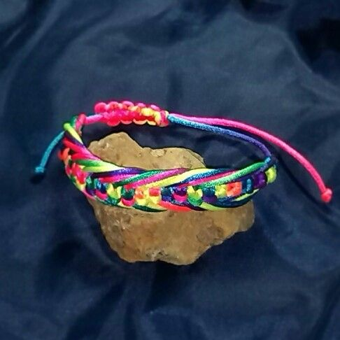 Neon bracelet by Simply hand made by Kris