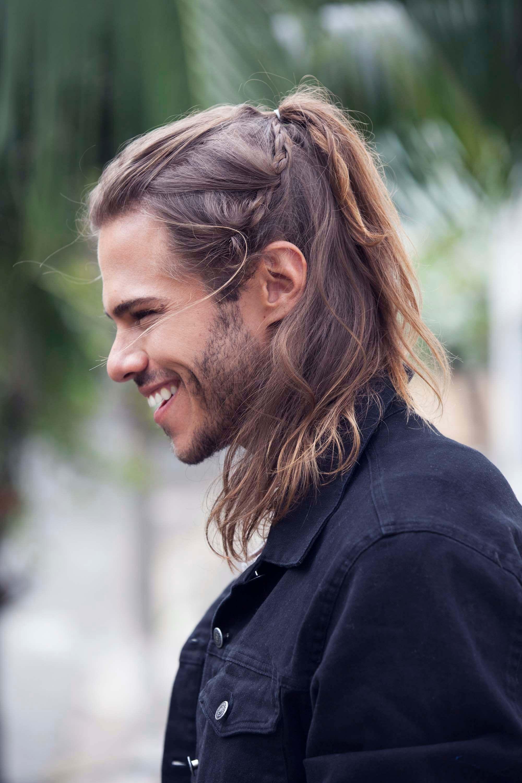Schöne Frisuren Für Männer Mit Langen Haaren Pinterest Plaited