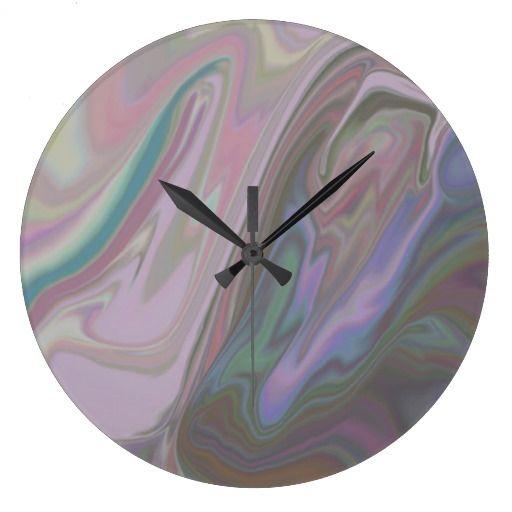 Liquid Sorbet Large Clock Zazzle Com Large Clock