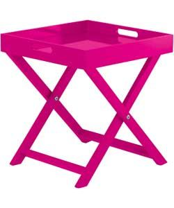 Habitat Oken Small Occasional Table - Cerise Pink.