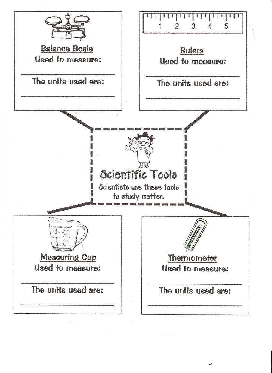 Matter Tools 0001 Scientific Method Worksheet Scientific Method Matter Worksheets