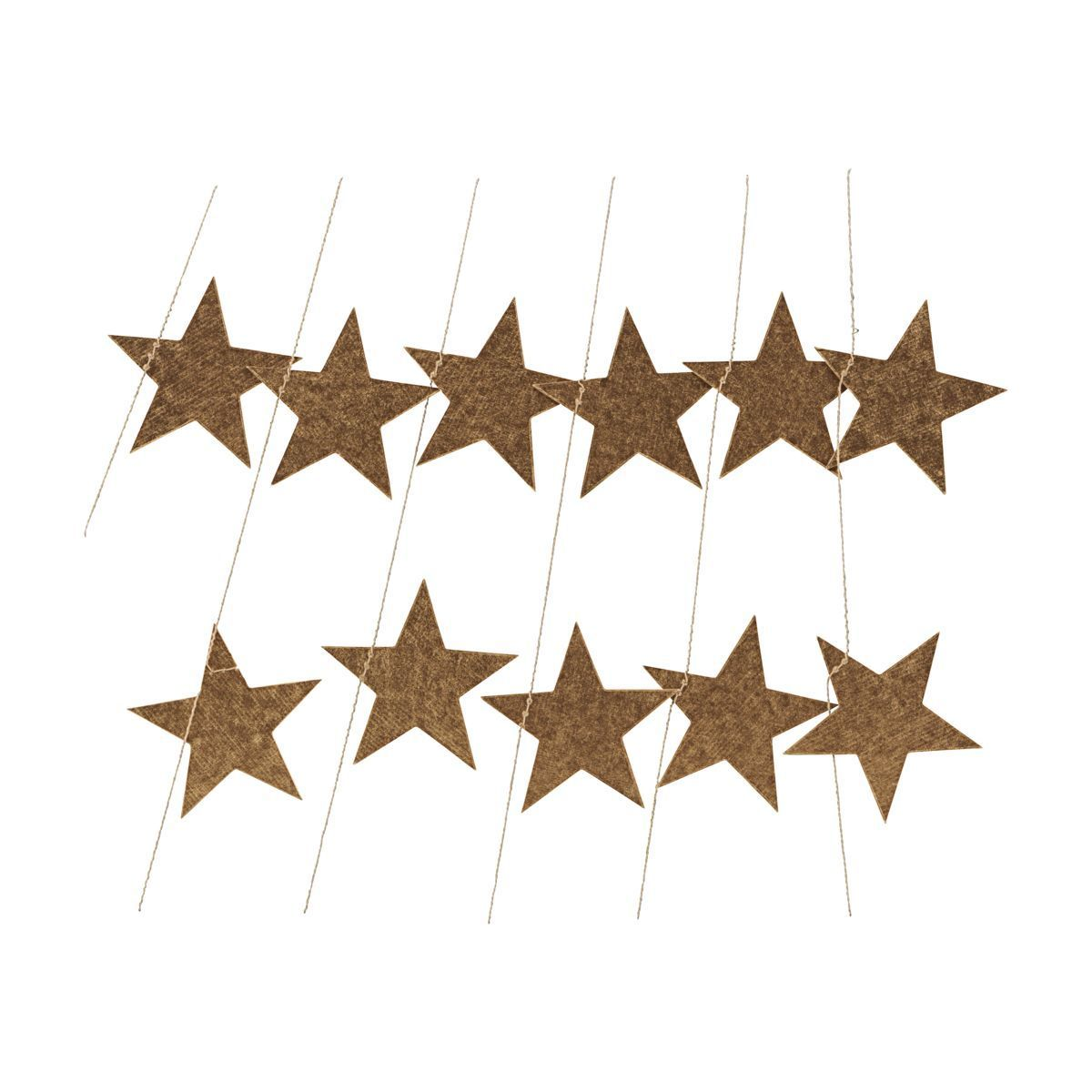 Gold Paper Star Garland (With images) | Star garland ...