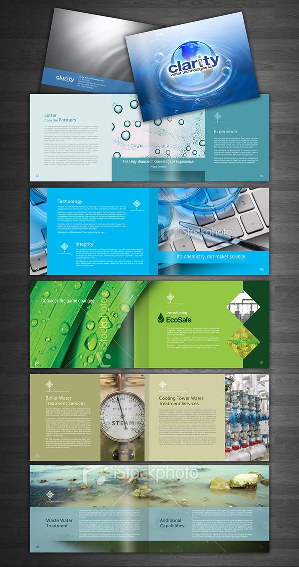 Clarity Water Technologies On Behance Company Profile Design Water Water Treatment