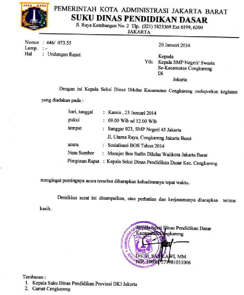 Contoh Surat Resmi Dinas Pdf