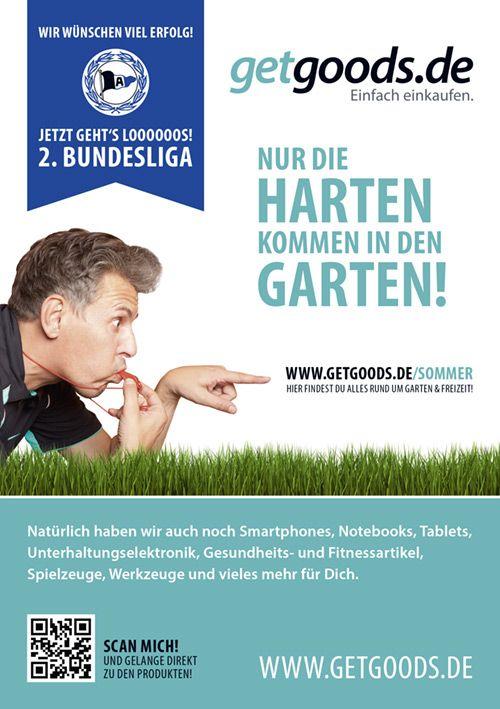"""Unsere Print-Anzeige aus dem offiziellen Club-Magazin """"HALBVIER"""" der DSC Arminia Bielefeld."""