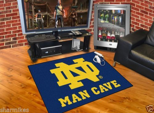 Fan Mats Notre Dame Fighting Irish Ncaa Man Cave All Star Floor Mat 34in X 45in Ebay Man Cave University Of California Berkeley All Star