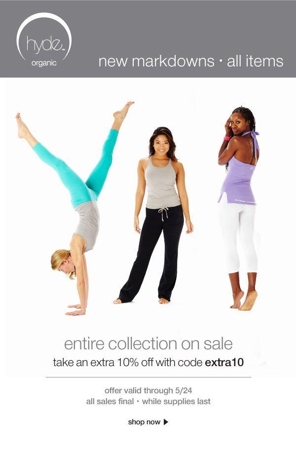 21291c12fc 10% off hyde organic yoga apparel at www.yogahyde.com | #hydeyoga #yoga  #yogaclothes