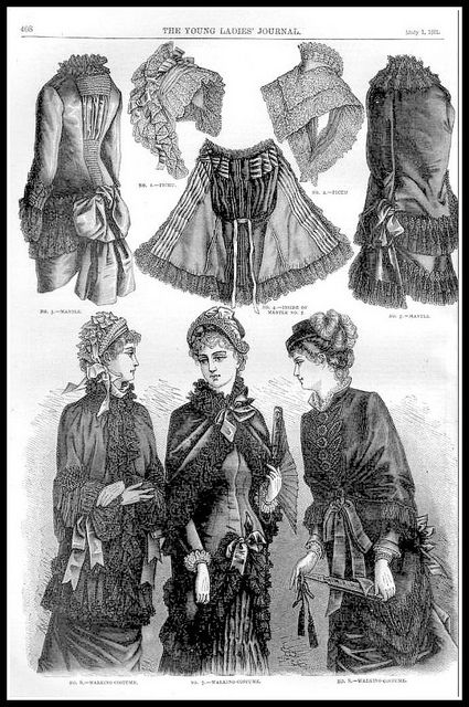 1881 Vintage Fashion Plates - The Young Ladies Journal No.24 | Flickr - Photo Sharing!