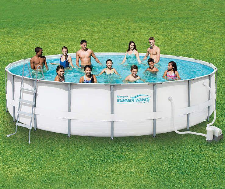 Summer Waves 20 Elite Metal Frame Pool Big Lots Diy Swimming Pool Portable Swimming Pools Summer Waves