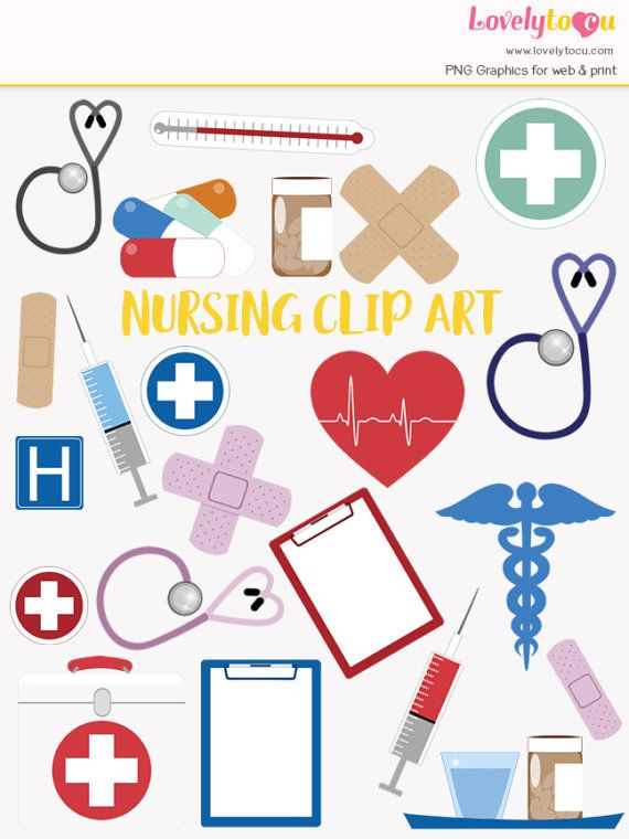 Healthcare clip art set for nurses and doctors. WHAT YOU