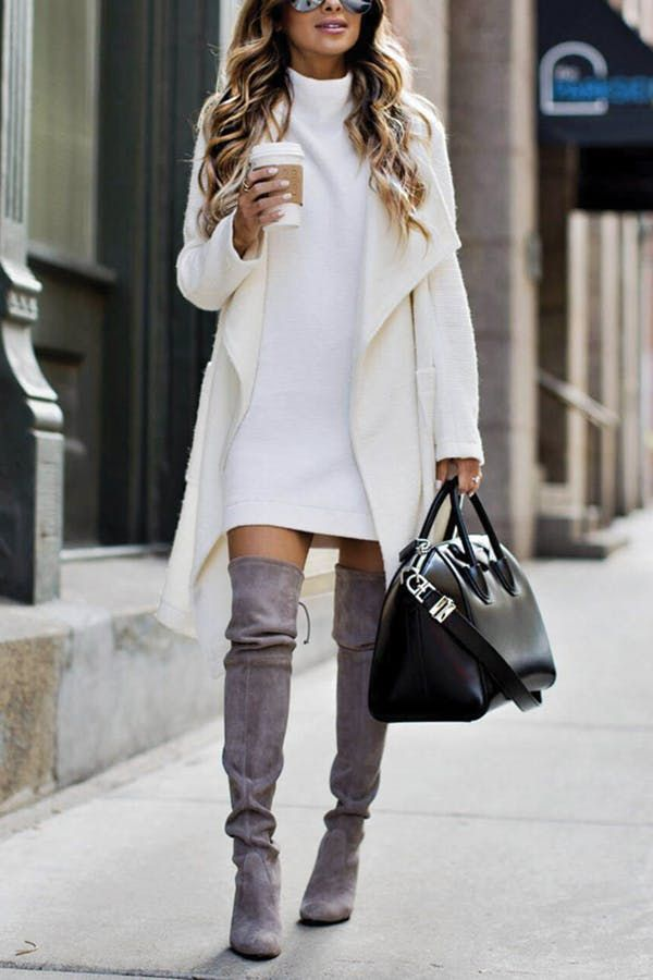 573b81be8bc The Grown-Up's Guide to Wearing Thigh-High Boots | 50 shades of Gray ...