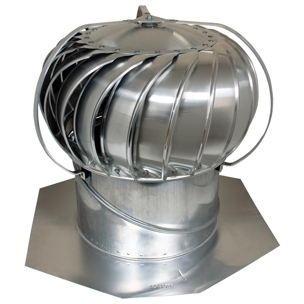 Air Vent 12 In Mill Aluminum Externally Braced Wind Turbine Silver Wind Turbine Air Vent Wall Fans