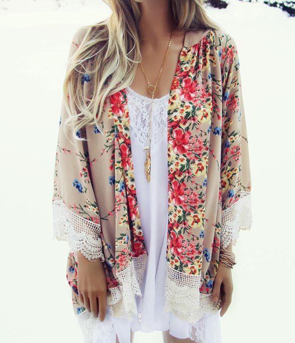 Briar Floral Kimono | My dream closet | Pinterest | Floral kimono ...