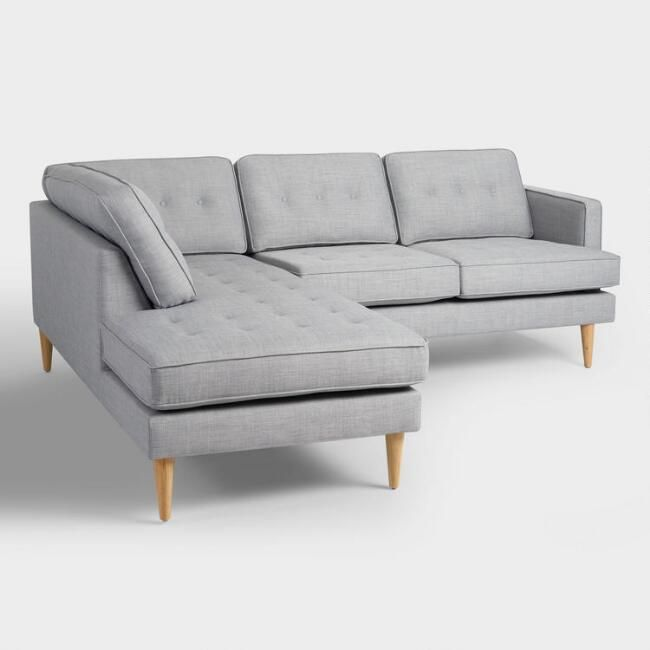 Dove Gray Woven Apel Sectional Sofa With Chaise V1 In