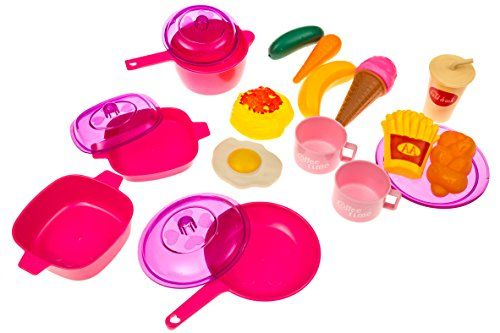 Kids Play Food Dishes Set Toy Kitchen Accessories Plastic Pots Pans Plates Eggs Dessert Meat Pantry Cookware Utensils Tray Bpa Free Want Additional Info