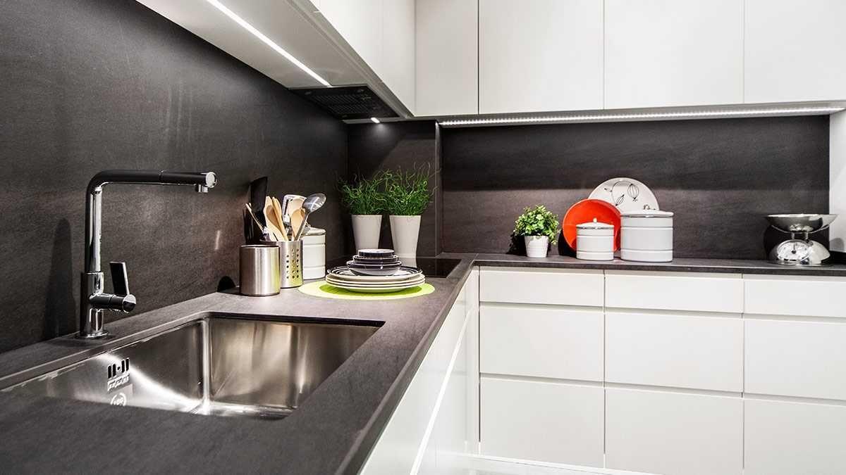 Cocina Santos Line Encimera Negra Cocinas Blancas Cocina Gris Y