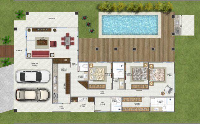 Plantas de casas em l gr tis dicas fotos projetos de for Plantas arquitectonicas de casas