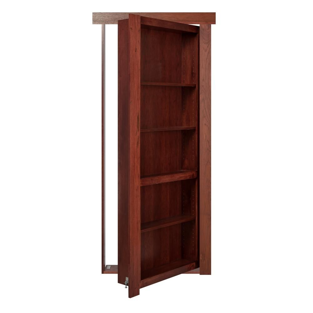 Charmant The Murphy Door 32 In. X 80 In. Assembled Cherry Stained Hickory Flush Mount