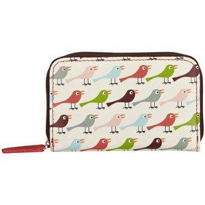 Nicky James Leather Collection: Coin Purse: Birds