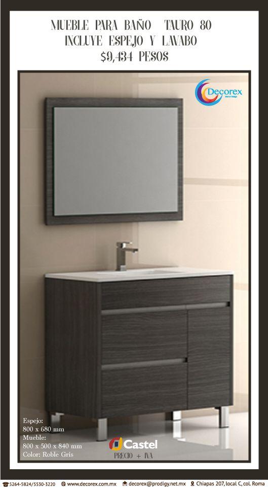 Mueble para Baño con espejo y lavabo incluido Dos colores ...