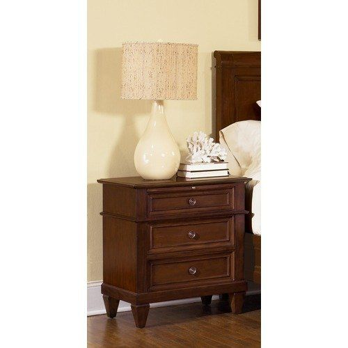 Wynwood Furniture Westhaven Nightstand In Dried Fig Cherry; Walmart 409