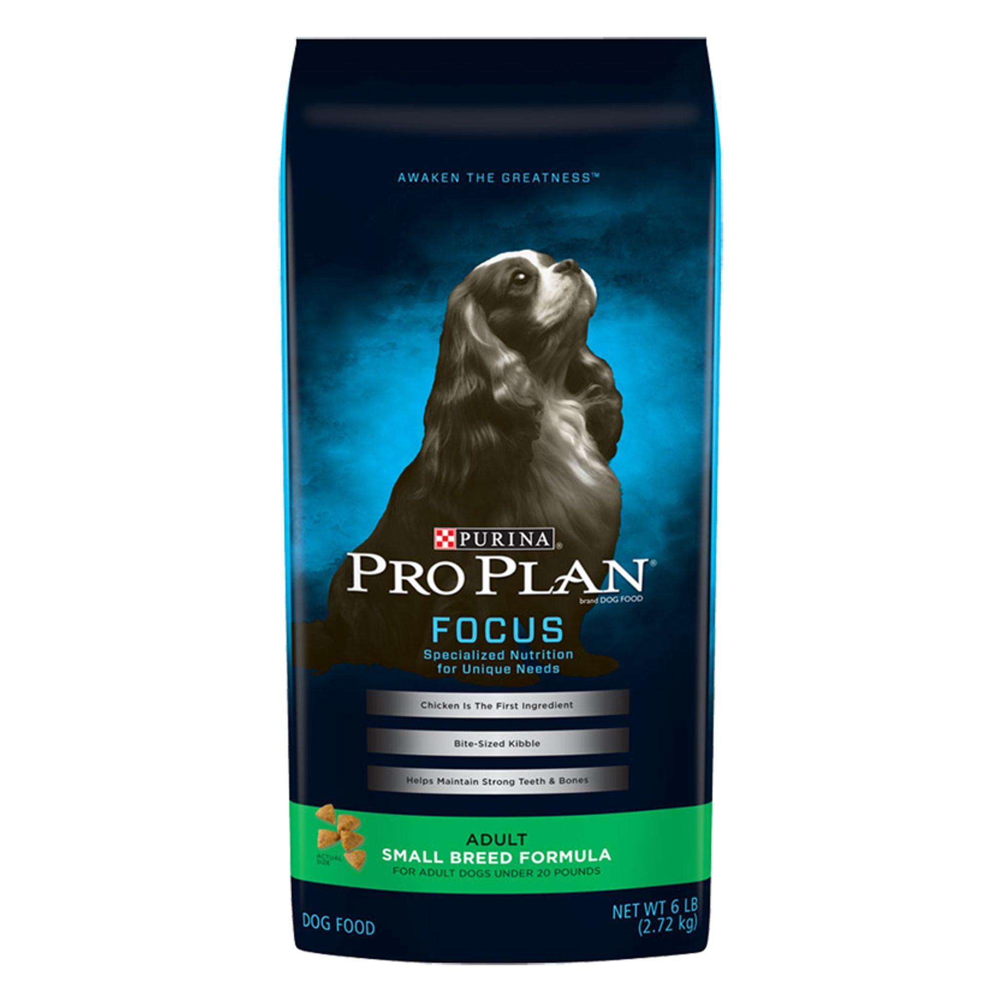 Purina Pro Plan Focus Small Breed Adult Dog Food Size 6 Lb Bone