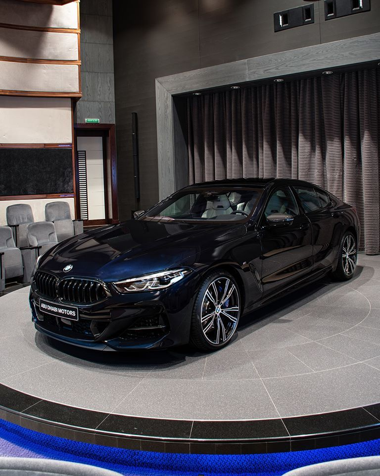 This Bmw M850i Gran Coupe In Carbon Black Metallic Looks Stunning