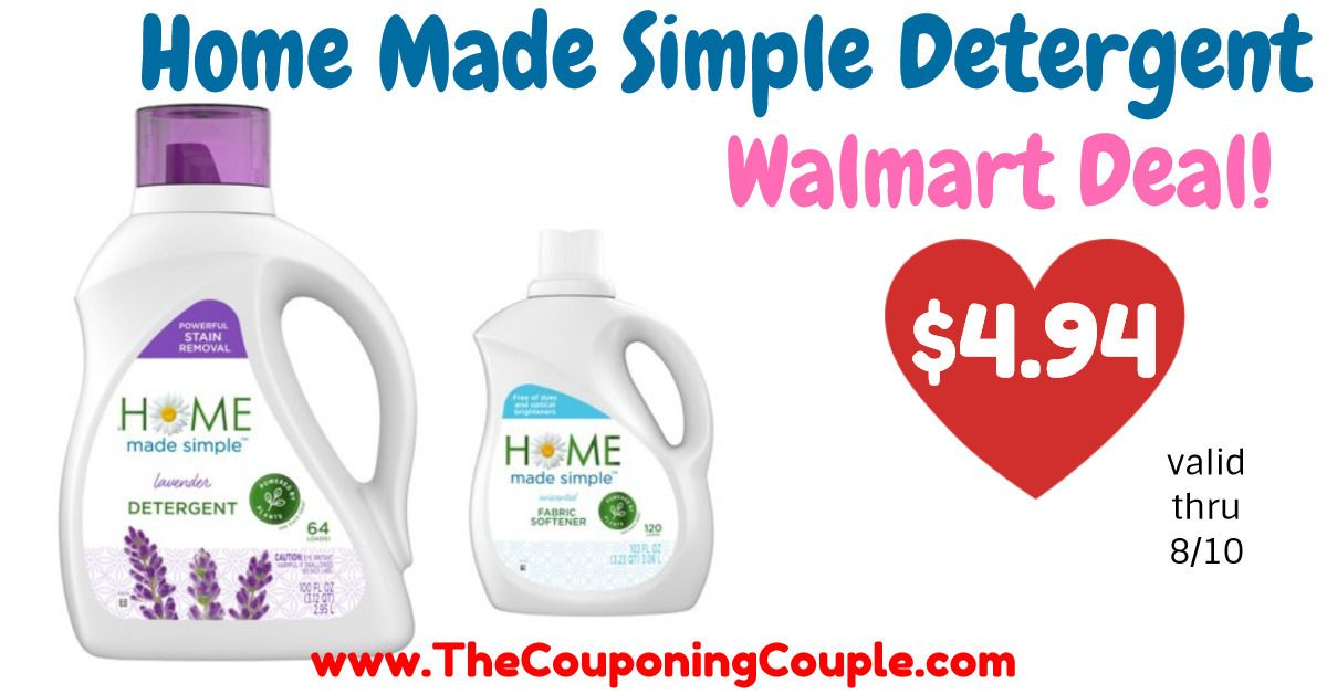 Home Made Simple Liquid Laundry Detergent 4 94 At Walmart Reg