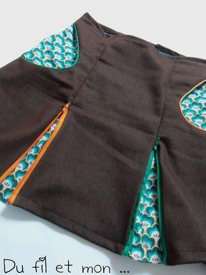 Voici un petite jupe à plis creux avec ... Fermeture éclair ou zip ! Une première, un essai ... Au début, il y a ç...