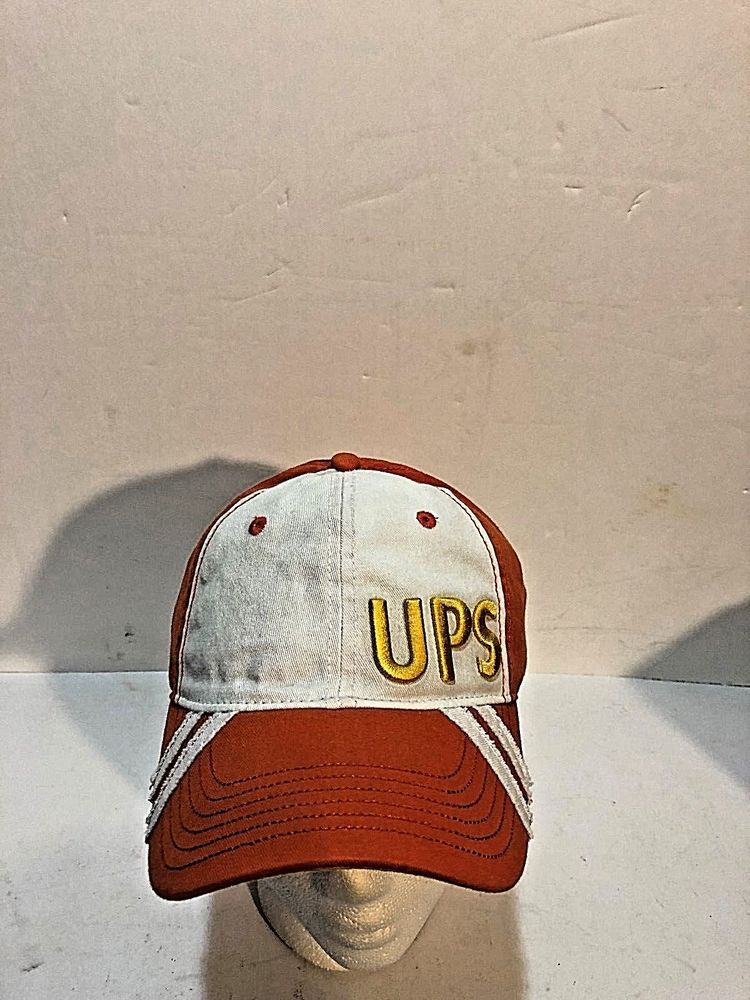 9f77afb7d42 UPS Orange and White Ball Cap Trucker Hat Embroidered Logo United Parcel  Service  fashion  clothing  shoes  accessories  mensaccessories  hats (ebay  link)