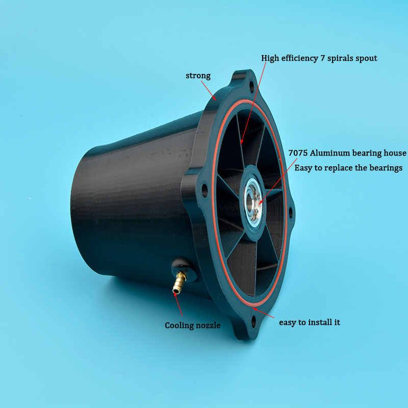 Black 120mm Water Jet Thruster With 12mm stainless steel Shaft For Boat Surfboard Model Boat/Boat| | - AliExpress