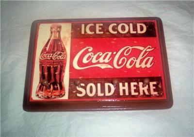 Coca cola wall decor key holder kitchen pegs coke soda for Coca cola wall mural