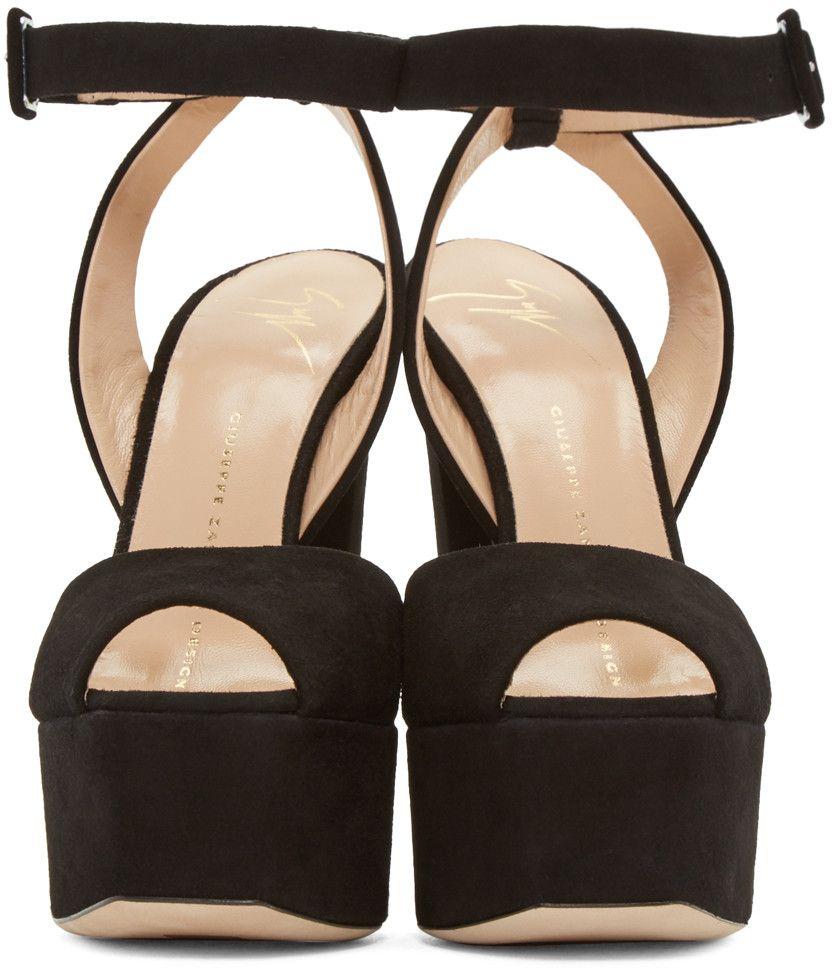 3ded03ffbc95 Black Suede Lavinia Platform Sandals