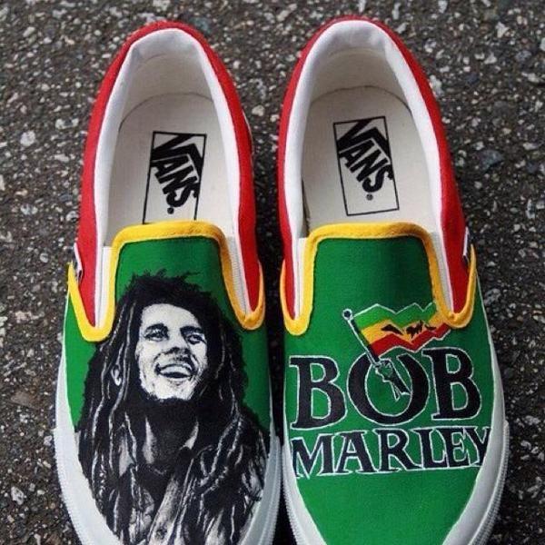 Bob Marley Vans My Style Bob Marley Shoes Painted